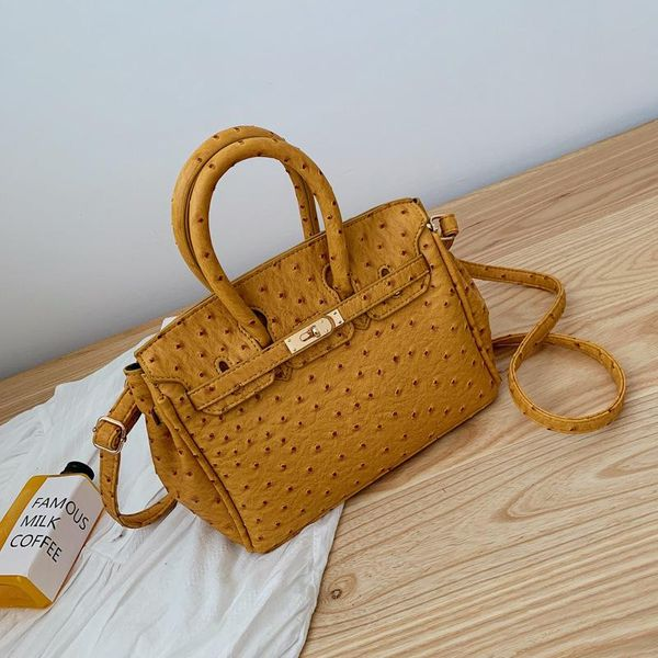 Korean version of the wild ostrich pattern shoulder bag NHPB156321