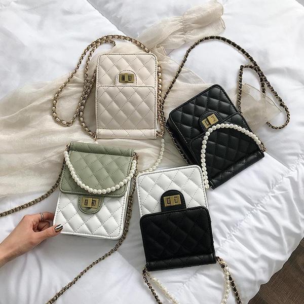 Korean version of the wild ins pearl handbag NHPB156382