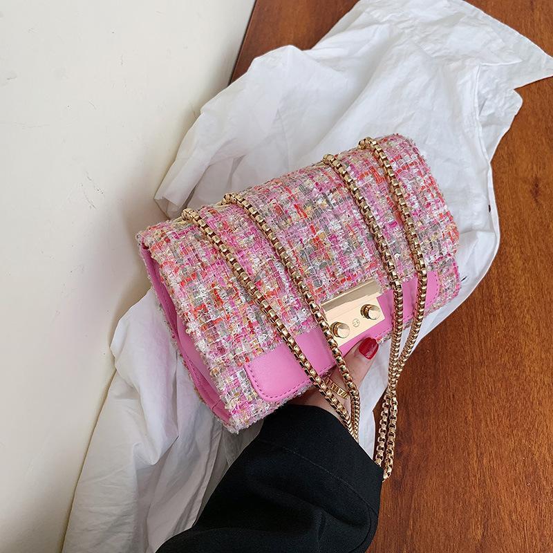 Fashion personality chain woven shoulder bag NHPB156401