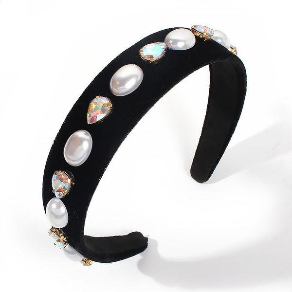 Vintage Wind Baroque Pearl Artificial Gemstone Headband NHMD156418