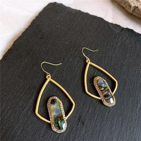 Vintage high quality crystal French palace style alloy earrings NHYQ156443's discount tags