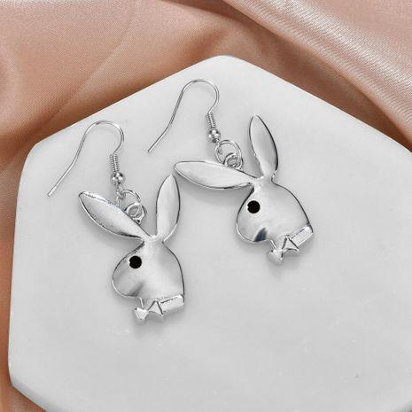 Fashion street punk style alloy rabbit head earrings NHBQ156444's discount tags