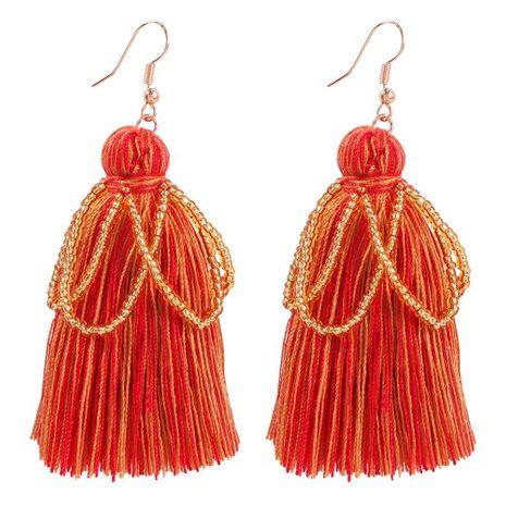 Womens Geometric Alloy  Rice Beads Tassel Earrings NHMD156500's discount tags