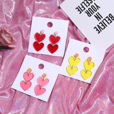 Fashion Retro Contrast Acrylic Earrings NHKQ156502's discount tags