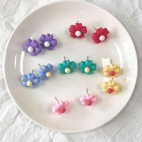 Summer small fresh cute flower alloy earrings NHKQ156521's discount tags
