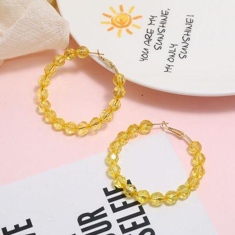 Fashionable versatile fan-shaped acrylic alloy earrings NHKQ156529's discount tags