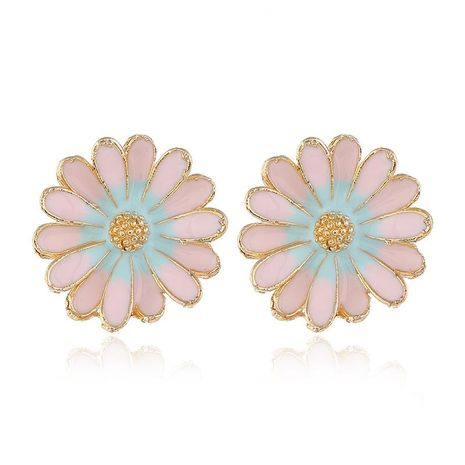 Womens Floral Pearl Alloy Earrings NHKQ156533's discount tags