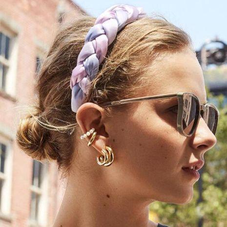 Fashion Satin Cloth Twist Color Headband NHMD156534's discount tags