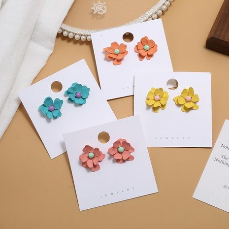 Womens Floral Plating Alloy Earrings NHKQ156535's discount tags