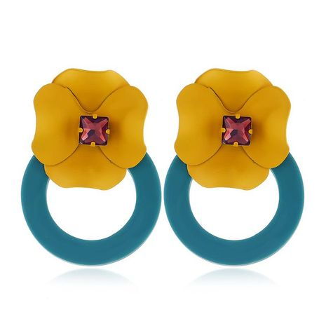 Fashion personality flower earrings NHKQ156550's discount tags