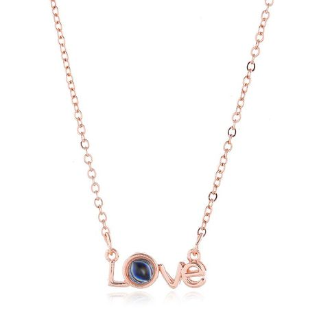 Fashion I love you diamond super shiny sterling silver necklace NHKQ156556's discount tags
