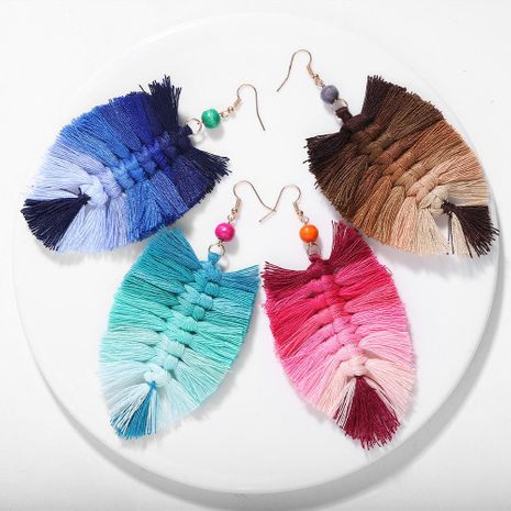 Hand-knitted tassel earrings NHJQ156567's discount tags