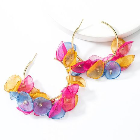 C-type alloy multi-layer lace flower earrings NHJE156569's discount tags