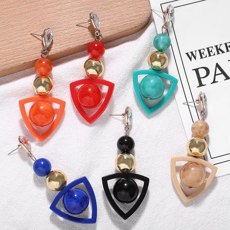 New resin beaded beaded long earrings NHJQ156581's discount tags