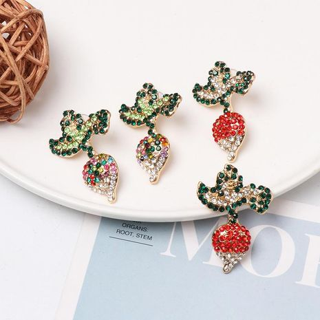 New vegetable carrot with diamond stud earrings NHJJ156580's discount tags