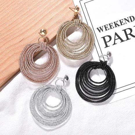 Fashion round rope earrings NHJQ156585's discount tags