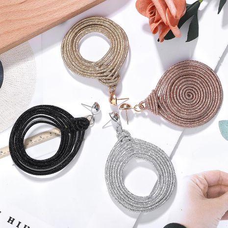 Fashion big circle rope earrings NHJQ156590's discount tags