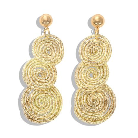 Hand-knitted circle stitching earrings NHJQ156592's discount tags