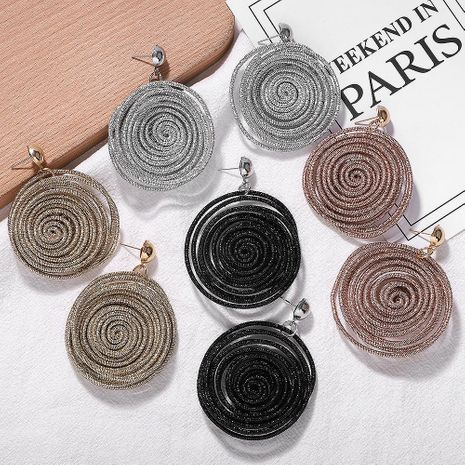 Fashion rope woven earrings NHJQ156596's discount tags