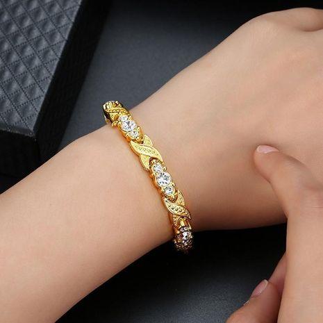 Fashion titanium steel plated 18K gold bracelet NHLN156600's discount tags