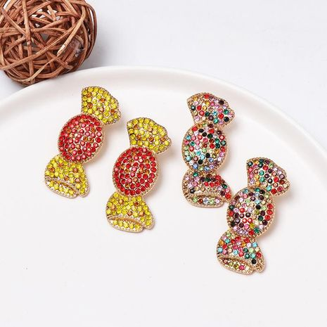 Womens Candy and Diamond Alloy Jujia Earrings NHJJ156599's discount tags