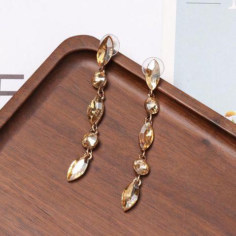 Drop-shaped colored diamond micro-set earrings NHJJ156604's discount tags