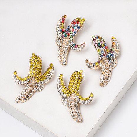 Banana-studded color vintage stud earrings NHJJ156608's discount tags