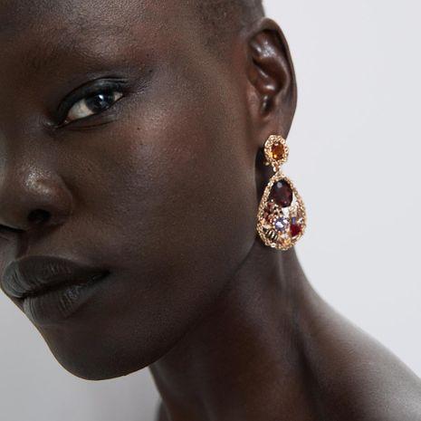 Alloy diamond drop drop earrings NHJQ156609's discount tags