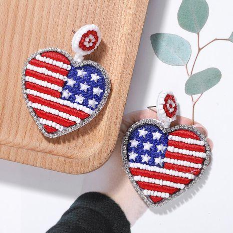 Alloy Diamond Beaded Heart Earrings NHJQ156614's discount tags
