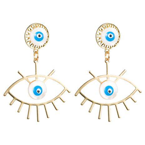Eye shell alloy earrings NHLN156615's discount tags
