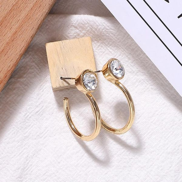Alloy diamond hoop earrings NHJQ156623