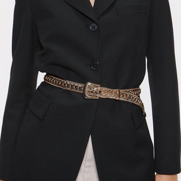 Alloy belt chain exaggerated heavy metal waist chain fashion belt NHJQ156627