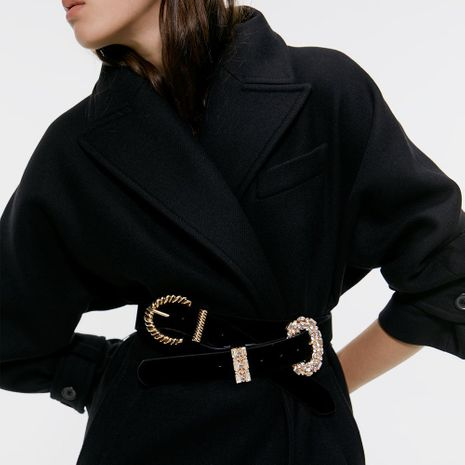 Alloy D-shaped pin buckle belt simple fashion belt NHJQ156628's discount tags