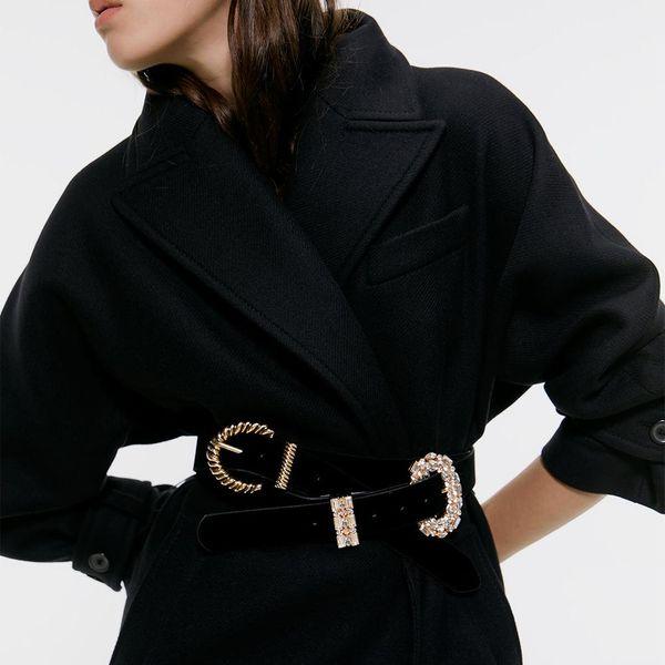 Alloy D-shaped pin buckle belt simple fashion belt NHJQ156628