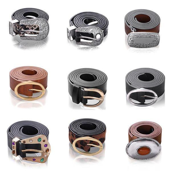Aleación de diamantes de cuero cinturón de moda hebilla hebilla de cadena de la cintura NHJQ156632