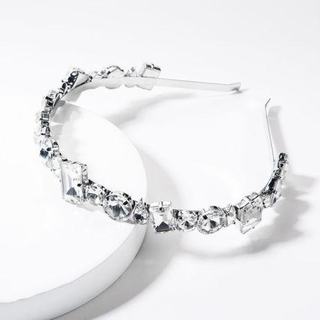 Alloy diamond-studded glass headband NHJE156646's discount tags