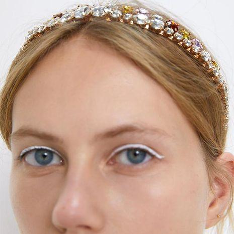 Fashion alloy diamonds colorful simple headband NHJQ156647's discount tags