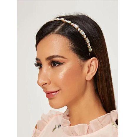 Alloy diamond-encrusted hair band NHLN156648's discount tags