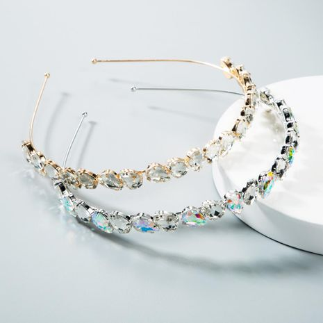 Fashion diamond-encrusted hair band NHLN156649's discount tags