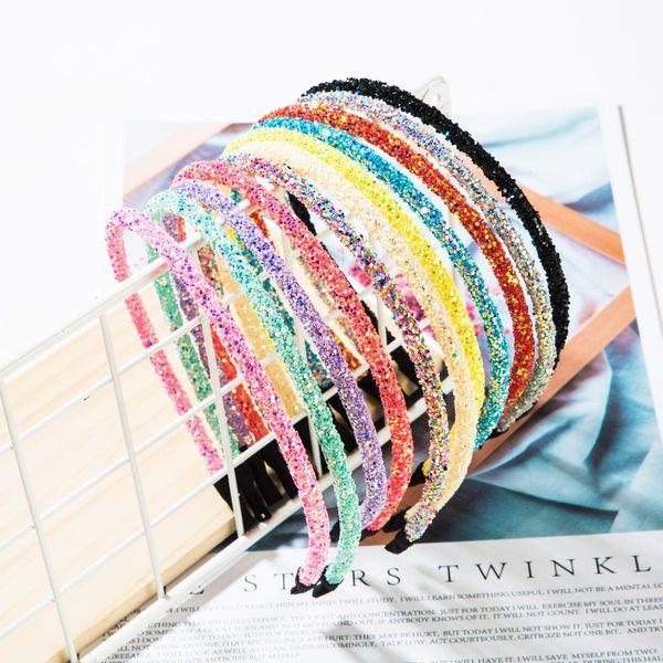 Colorful plastic sequin headband NHJE156660