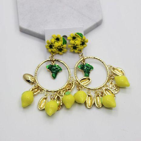 Fashion geometric fringed fruit flower big earrings NHWJ156693's discount tags