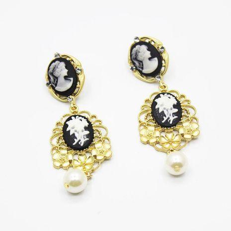 Fashion temperament beauty portrait long earrings NHWJ156701's discount tags