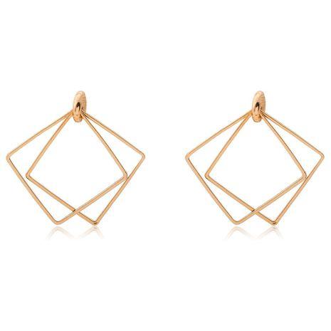 Retro minimalistic geometric openwork diamond shaped square stud earrings NHDP156708's discount tags