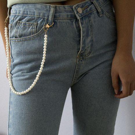 Vintage fashion versatile imitation pearl waist chain bracelet NHXR156734's discount tags