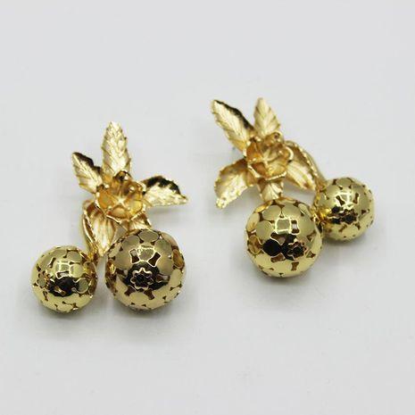 Fashion gold piece hollow ball sun flower long earrings NHWJ156739's discount tags