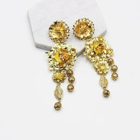 Womens Floral Plating Alloy Other Earrings NHWJ156740's discount tags