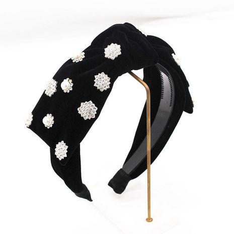 Fashion full diamond snowflake bow headband NHWJ156742's discount tags
