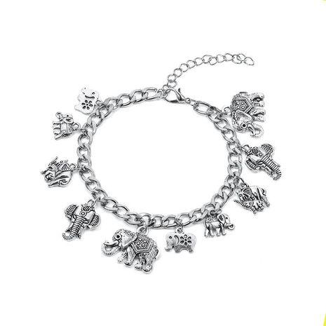 Vintage elephant love clavicle chain bracelet NHDP156749's discount tags