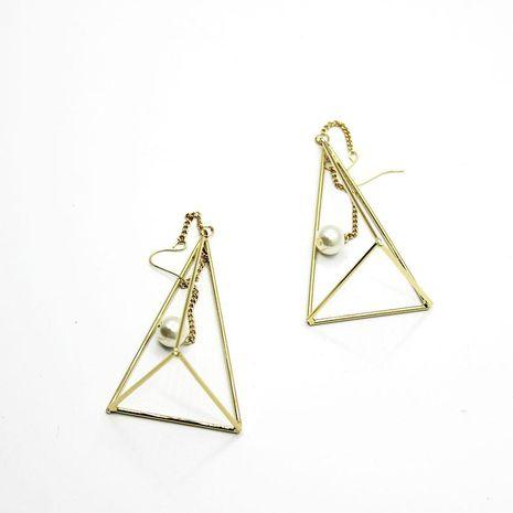 Baroque triangle pearl long ear hook NHWJ156753's discount tags