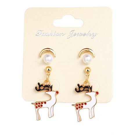 Sleek minimalist Christmas sika deer earrings NHPJ156781's discount tags